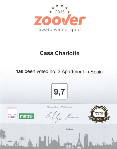 Zoover Gold Award 2015