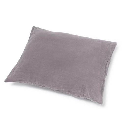 Donkerpaars stonewashed linnen dekbedovertrek Black Purple - Casa Homefashion