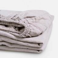 light grey linen fitted sheet