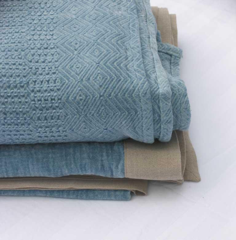 Bedsprei Seaf Mist Blue - aqua blauw - Casa Comodo
