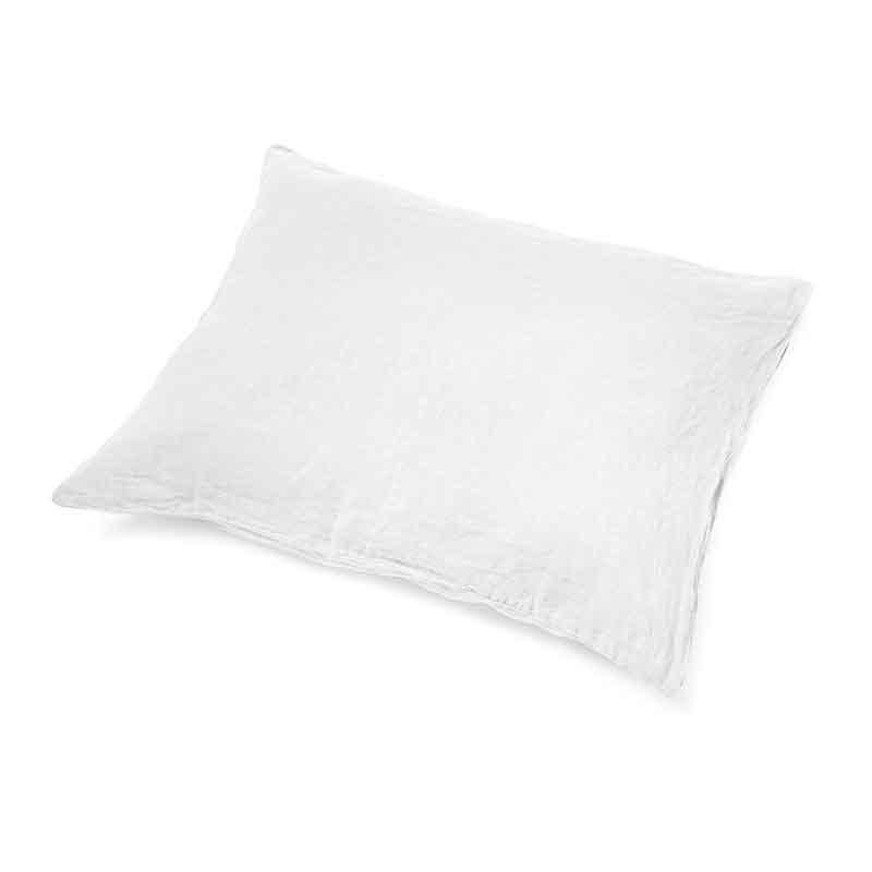 Wit linnen kussensloop Snow White - merk Casa Homefashion - online te koop bij Casa Comodo