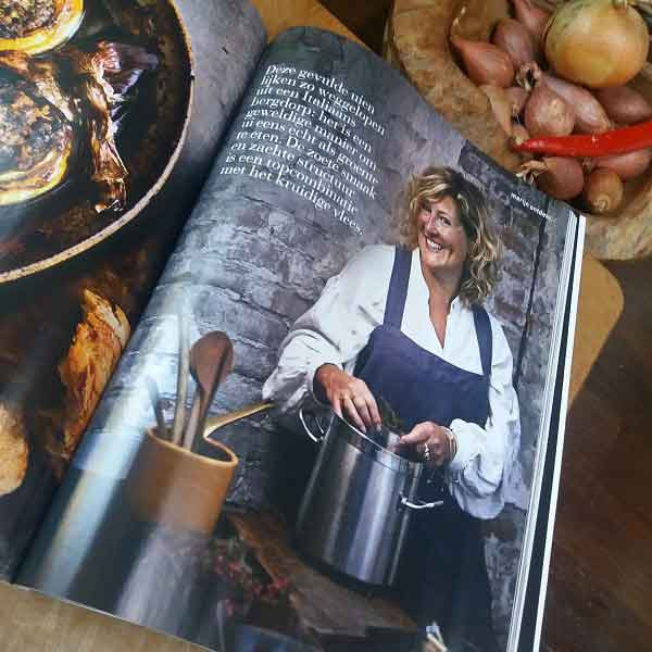 Linen apron from Casa Comodo in delicious magazine