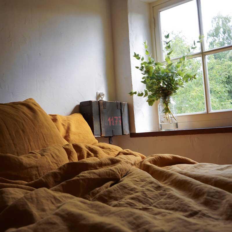 Linen-duvet cover-Yellow Summer – Casa Comodo
