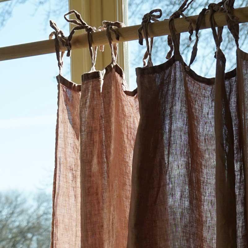 kant en klaar linnen gordijn roze