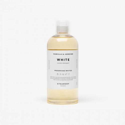Duurzaam vloeibaar wasmiddel voor witte was, Steamery