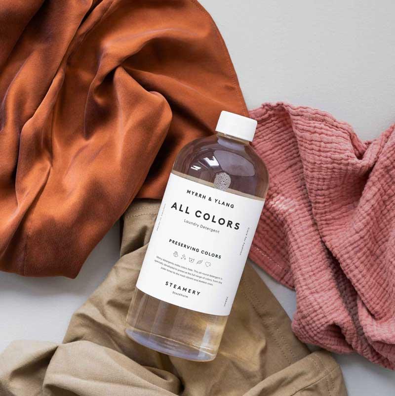 duurzaam wasmiddel gekleurde was. merk Steamery uit Zweden