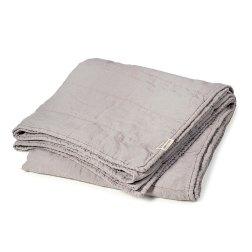 linen bedspread light grey