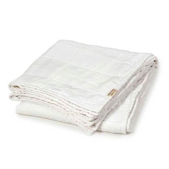 linen bedspread white