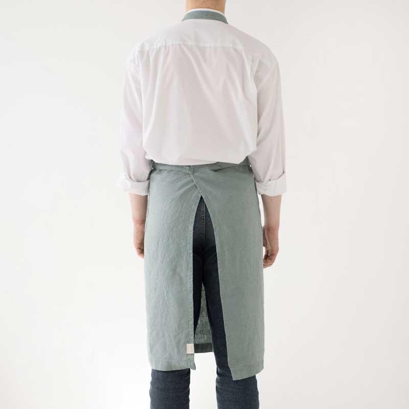 luxe linnen schort Green Mileu Linen Tales