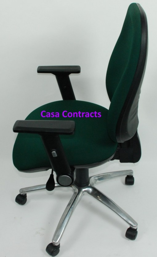 ESE chair Green fabric base and back 3a