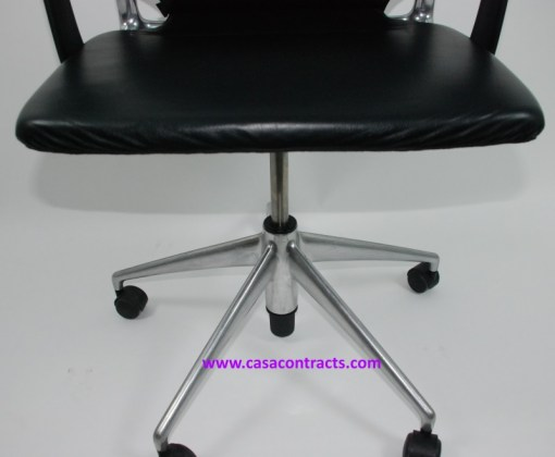 Vitra Meda chair leather adjustable arms 8a