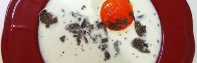 Finto uovo al tegamino con tartufo