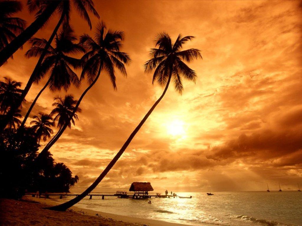 Sunset at Pigeon Point-Tobago
