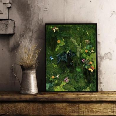 tablou cu licheni