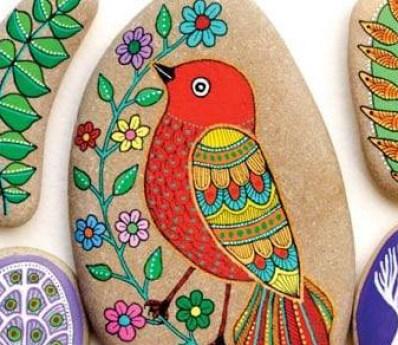 activitati pentru copii - pictura pietre