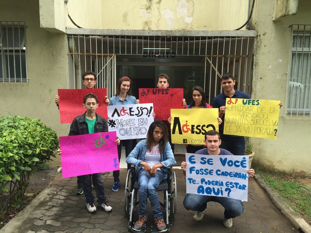 Alunos se mobilizaram em prol da causa  (Foto: Naiara Arpini/ G1 ES)