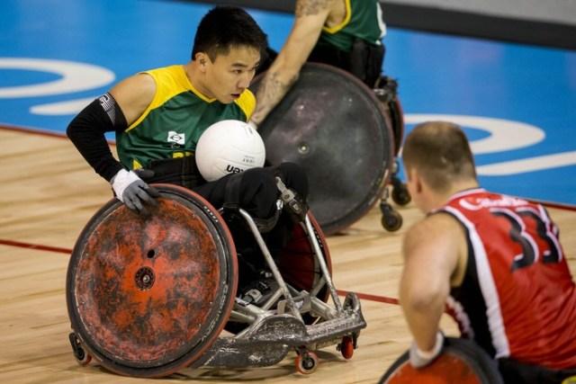Alexandre Taniguchi é o capitão da seleção brasileira de rúgbi em cadeira de rodas (Foto: Daniel Zappe/MPIX/CPB)