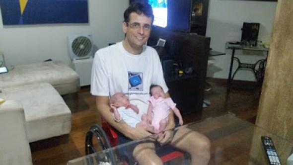 pai cadeirante- de papo com Claudinha
