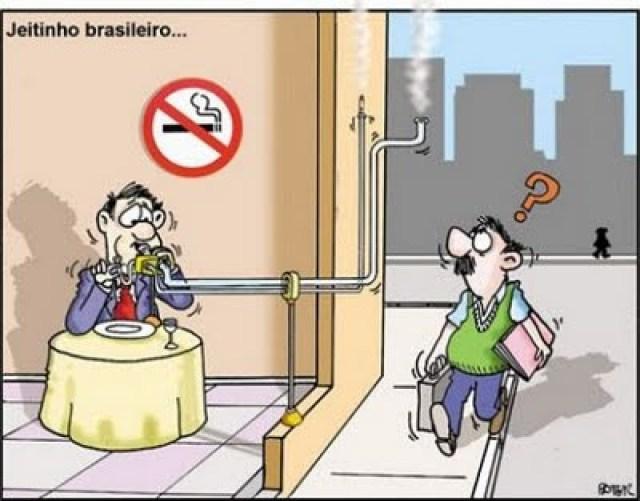 Jeitinho brasileiro - fumar- restaurante- de papo com Claudinha- casadaptada