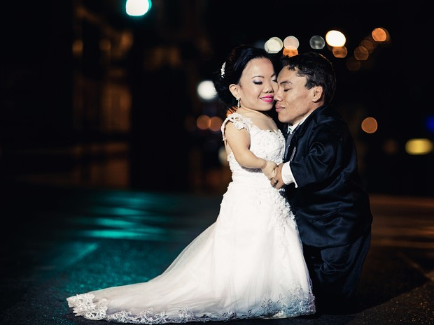 Casal se conheceu pelo Orkut, há dez anos (Foto: Divulgação/ Pippo Ferreira Casamentos)