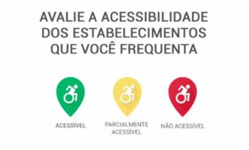 No app, a avaliação de acessibilidade de um lugar leva 30 segundos.