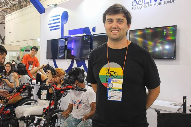 Lúcio Olivero, diretor comercial da Kit Livre - Soluções em Mobilidade. De acordo com ele, resgatar a autoestima das pessoas com deficiência é a principal meta da empresa.
