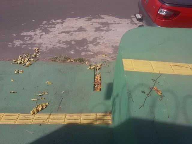 Construção gera riscos para pessoas com deficiências (Foto: Prefeitura de Macapá/Divulgação)