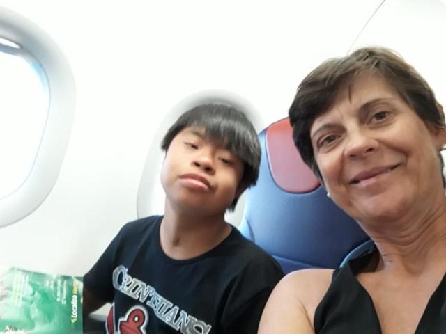 Beatriz com o filho — Foto: Beatriz Mello/ Arquivo pessoal