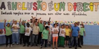 turma do projeto de capoeira adaptada