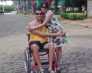 Alessandro Fernandes e Giordana, juntos desde 2007