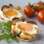 {Scrambled} Egg & Ham Omelet Cups