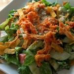 Shredded Buffalo Chicken Salad for #SundaySupper