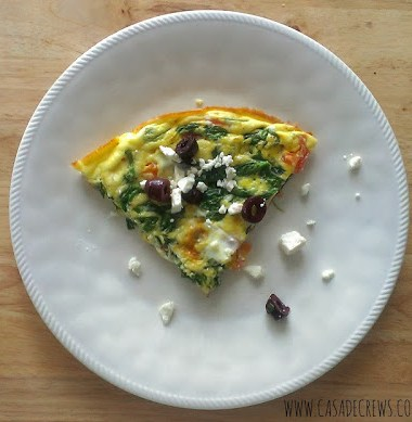 greek frittata keto