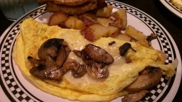 mushroom omelette from Lucky Dill Deli