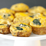 keto sausage, spinach, and cheese egg cups
