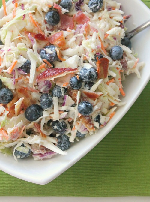 blueberry coleslaw w bacon
