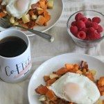 Sweet Potato, Apple and Bacon Hash