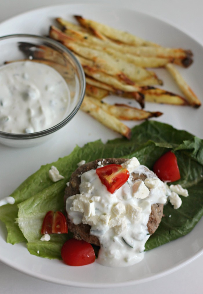 Gyro Burgers with Homemade Fries