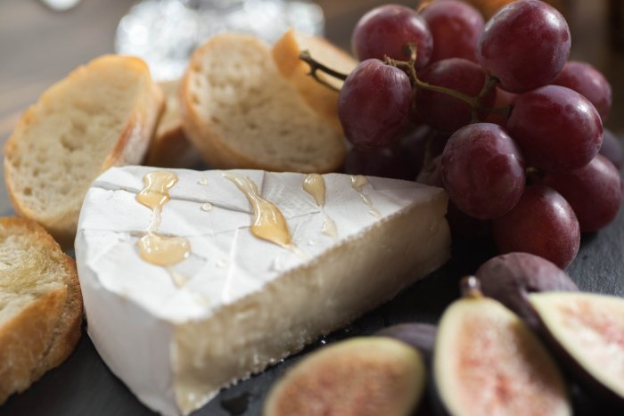 Figs, honey, and cheese plate for Thanksgiving View More: http://carolineevan.pass.us/friendsgiving