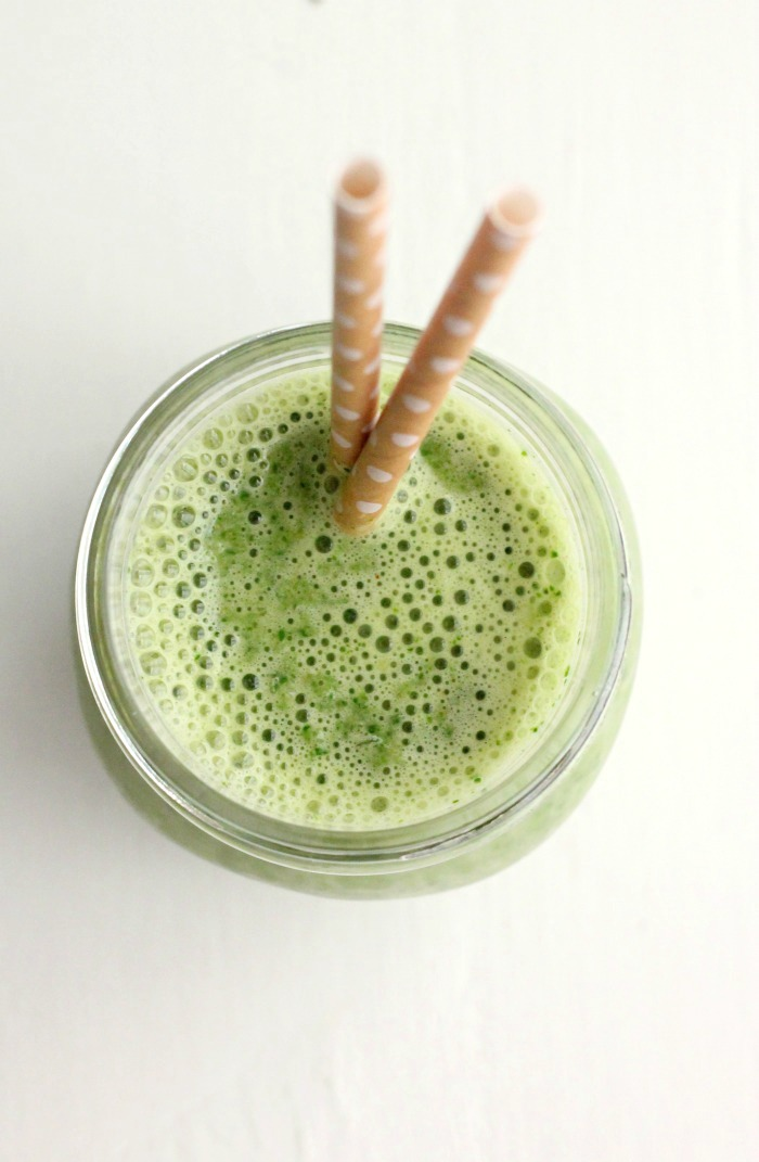 Kale, Banana and Peanut Powder Smoothie #StartWithJifPowder