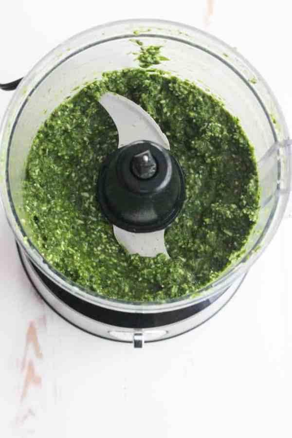 Homemade Pesto using SweetPea Greens from Organicgirl