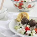 Gyro Meatballs with Lemon Rice #SundaySupper