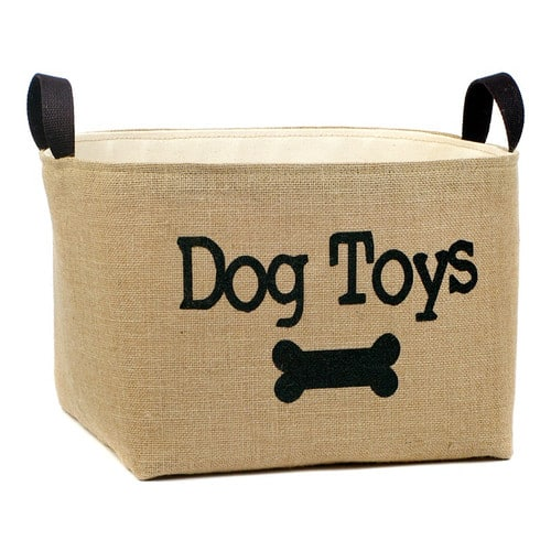 %22Dog+Toys%22+Burlap+Storage+Basket