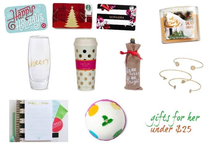 Gift Exchange Ideas - gifts under $25 | casadecrews.com