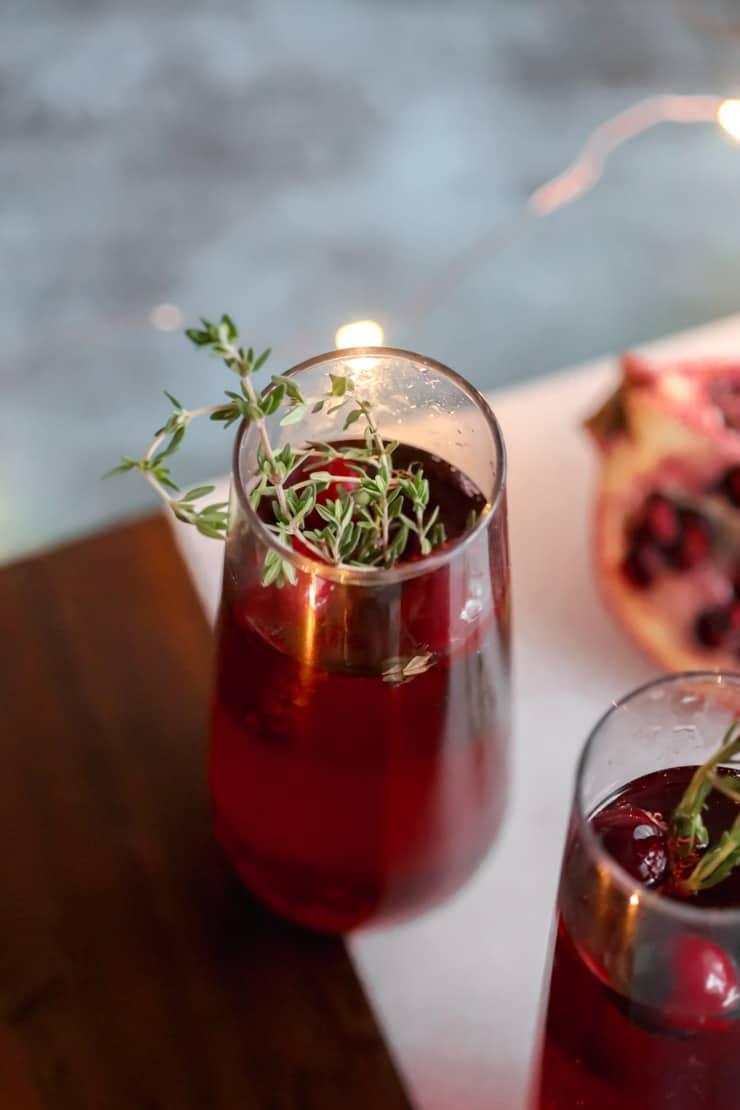 Sparkling Berry and Pomegranate Mocktail