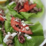 Gyro Pita Lettuce Wraps