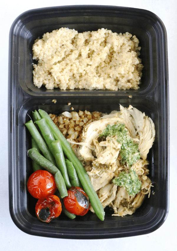 Pesto Chicken Quinoa Bowls Meal Prep Casa De Crews