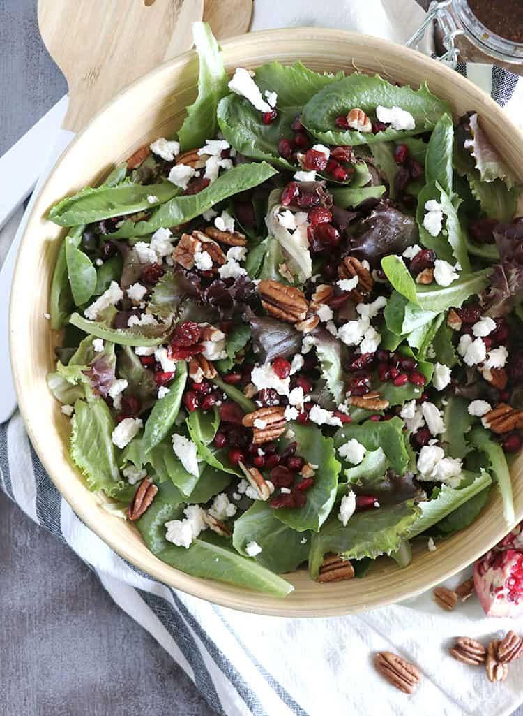 Winter Salad With Fig Jam Balsamic Vinaigrette Casa De Crews