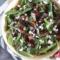 Winter Salad with Fig Jam Balsamic Vinaigrette