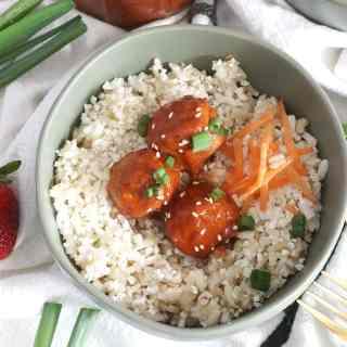 Strawberry Chipotle BBQ Glazed Meatballs